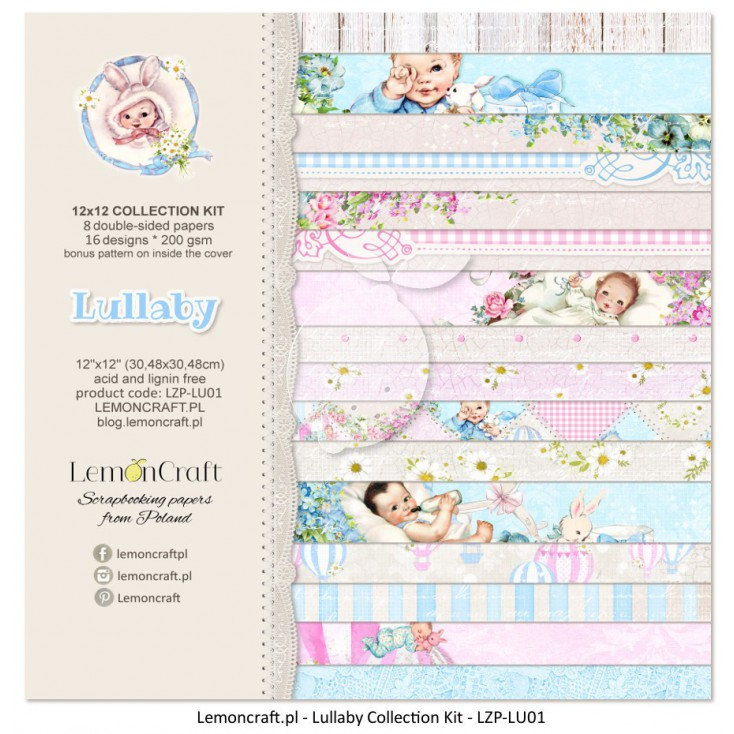 Set of scrapbooking papers - Yesterday