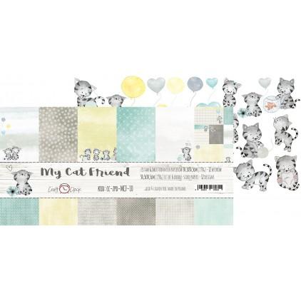 Zestaw papierów do tworzenia kartek i scrapbookingu - Craft O Clock - My Cat Friend