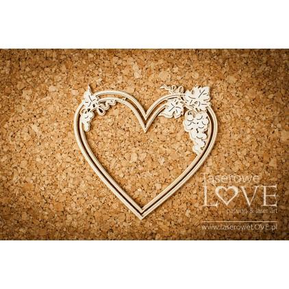 Laserowe LOVE - Serce z winogronami - 1 szt. - El Santo Rosario