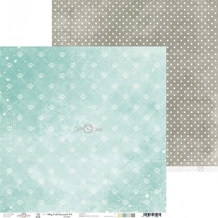 Scrapbooking paper - Craft O Clock - My Cat Friend - 04