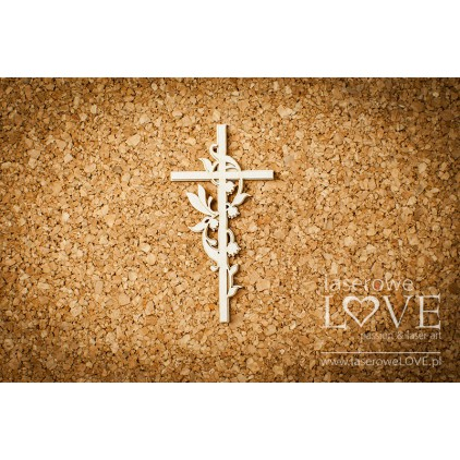 Laser LOVE - cardboardcross with the valleys- 1 pcs. - Baby lily