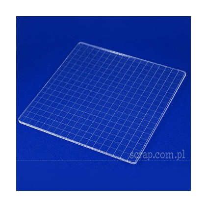Acrylic block for punches 18 x 18 cm with graduation - 1 pcs