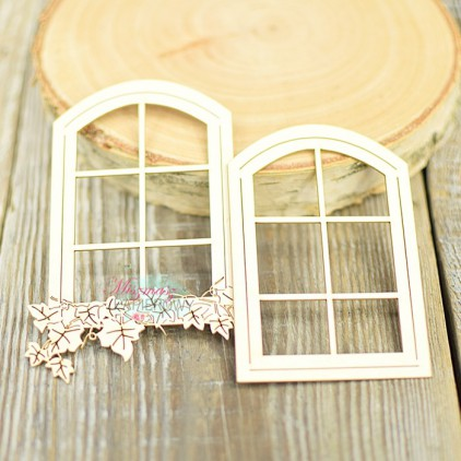 Miszmasz Papierowy - Tekturka - okno z bluszczem