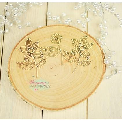Miszmasz Papierowy - Tekturka - ażurowe kwiatki