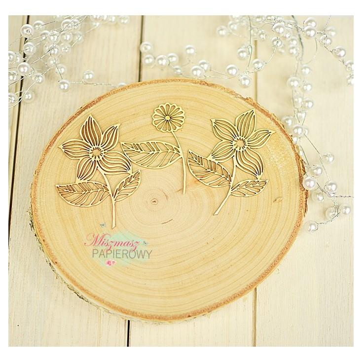 Miszmasz Papierowy - cardboard element -openwork flowers
