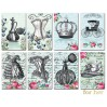 Decorer - Set of mini scrapbooking papers -For her