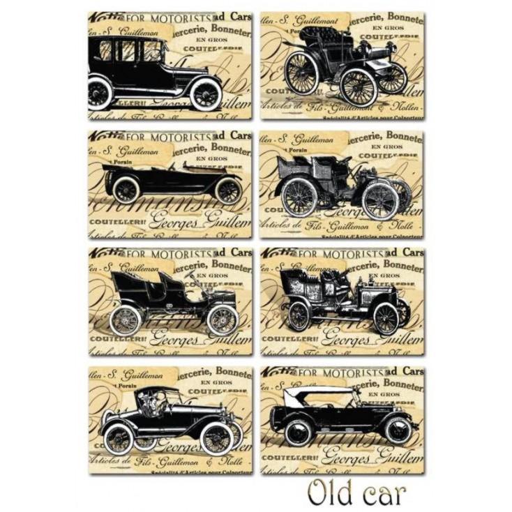 Decorer - Zestaw mini papierów do scrapbookingu - Old car