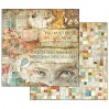 Stamperia - Set of scrapbooking papers - Time is an ilusion