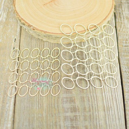 Miszmasz Papierowy - cardboard element - background of circles and ovals - 2 pcs.
