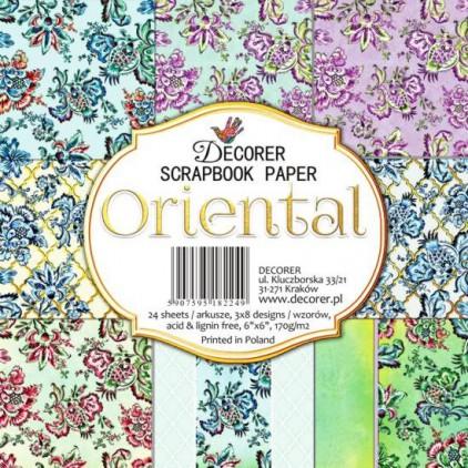 Decorer - Mały bloczek papierów do scrapbookingu - Oriental