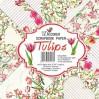 Decorer - Set of scrapbooking papers - Tulips