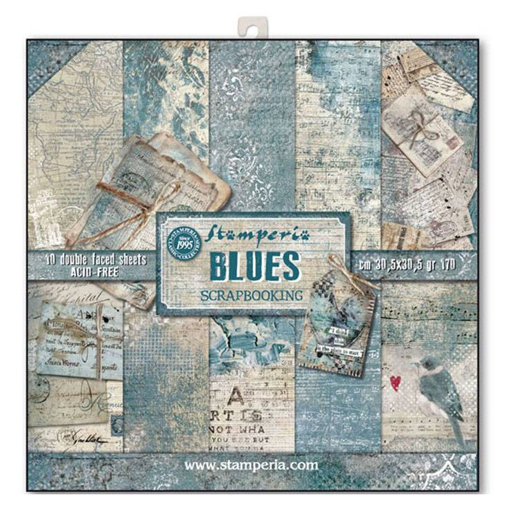 Stamperia - Set of scrapbooking papers - Blues