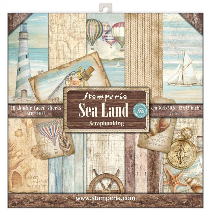 Stamperia - Set of scrapbooking papers - Sea Land