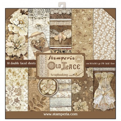 Stamperia - Set of scrapbooking papers - Old Lace