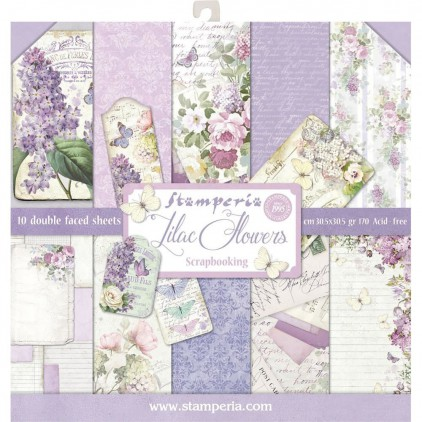 Stamperia - Set of scrapbooking papers - Lilac Flowers
