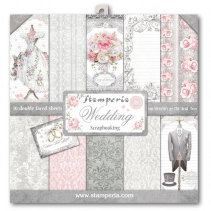 Stamperia - Set of scrapbooking papers - Wedding