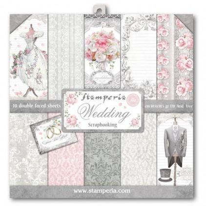 Zestaw papierów do tworzenia kartek i scrapbookingu - Stamperia - Wedding