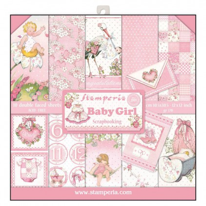 Stamperia - Set of scrapbooking papers - Baby Girl