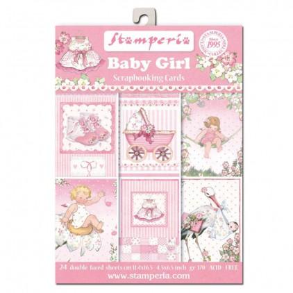 Stamperia - Set of scrapbooking cards - Baby Girl