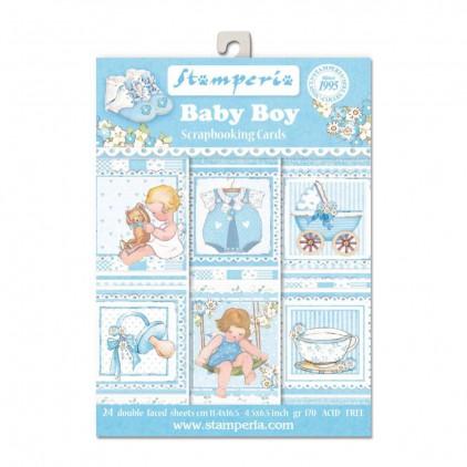 Stamperia - Set of scrapbooking cards - Baby Boy