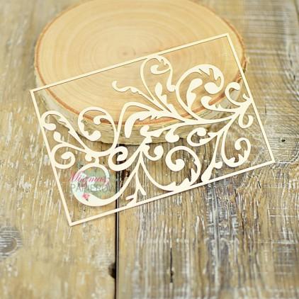 Miszmasz Papierowy - cardboard element -flourish bakground 03