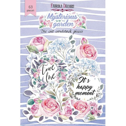 Set of die cuts - Fabrika Decoru - Mysterious garden - 40pcs