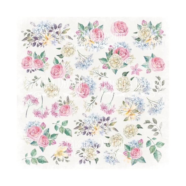 Papier do tworzenia kartek i scrapbookingu - Fabrika Decoru - Shabby Garden - Obrazki do wycinania