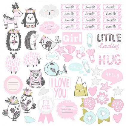 Scrapbooking paper - Fabrika Decoru - Scandi Baby Girl - Pictures for cutting