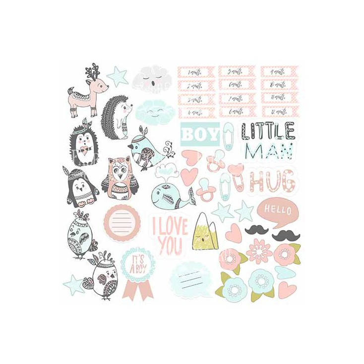 Scrapbooking paper - Fabrika Decoru - Scandi Baby Boy - Pictures for cutting