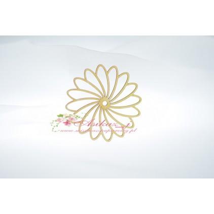 Miszmasz Papierowy - cardboard element - small rosette 01