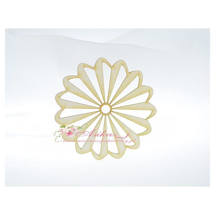 Miszmasz Papierowy - cardboard element - small rosette 02