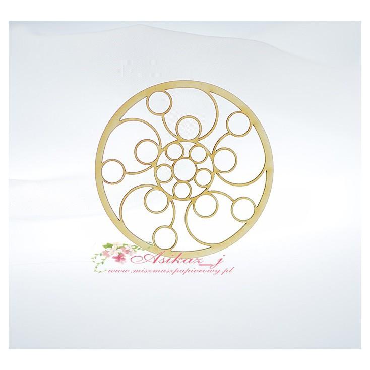 Miszmasz Papierowy - cardboard element -openwork circle