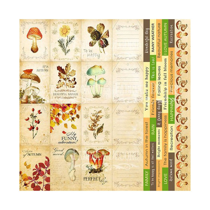 Papier do tworzenia kartek i scrapbookingu - Fabrika Decoru - Botany autumn cards - Obrazki do wycinania