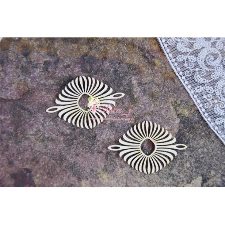 Miszmasz Papierowy - cardboard element -oval ornament