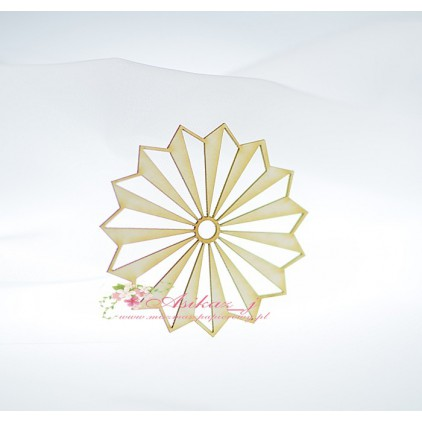 Miszmasz Papierowy - cardboard element - small rosette 03