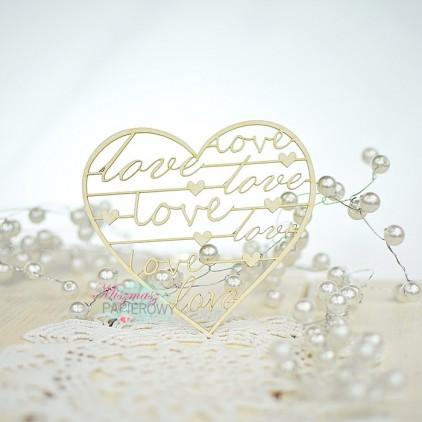 Miszmasz Papierowy - cardboard element - heart with LOVE