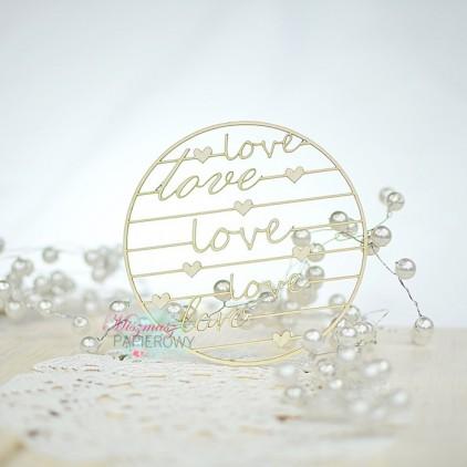 Miszmasz Papierowy - cardboard element -round background LOVE