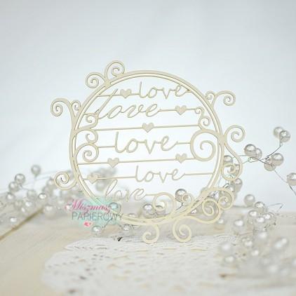 Miszmasz Papierowy - cardboard element -frame LOVE