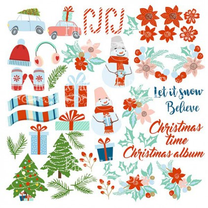 Scrapbooking paper - Fabrika Decoru - Winter in the city - Pictures for cutting