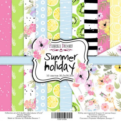 Set of scrapbooking papers - Fabrika Decoru - Summer holiday