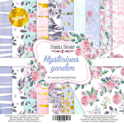 Set of scrapbooking papers - Fabrika Decoru - Mysterious Garden