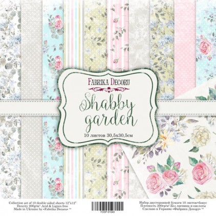 Set of scrapbooking papers - Fabrika Decoru - Shabby Garden