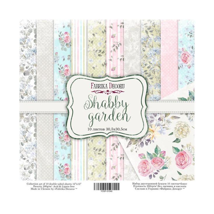 Zestaw papierów do tworzenia kartek i scrapbookingu - Fabrika Decoru - Shabby Garden