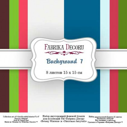Pad of scrapbooking papers - Fabrika Decoru - Backgrounds 7