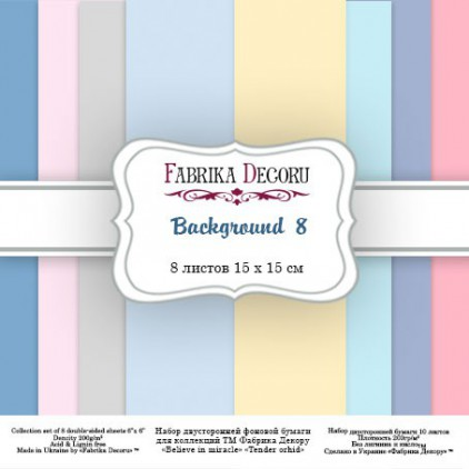 Pad of scrapbooking papers - Fabrika Decoru - Backgrounds 8