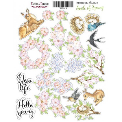 Set of stickers - Fabrika Decoru - Smile of spring 012