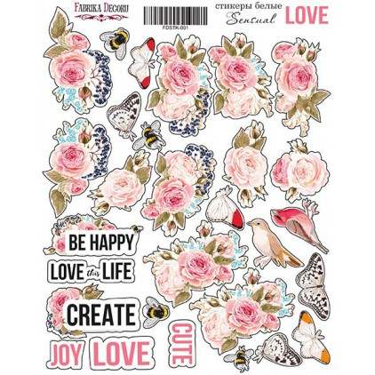 Set of stickers - Fabrika Decoru - Sensual Love 001