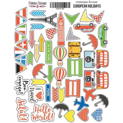 Set of stickers 002 - Fabrika Decoru - European holidays