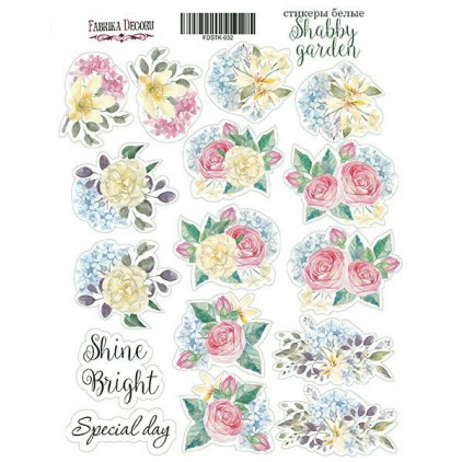 Set of stickers 010 - Fabrika Decoru - Shabby garden
