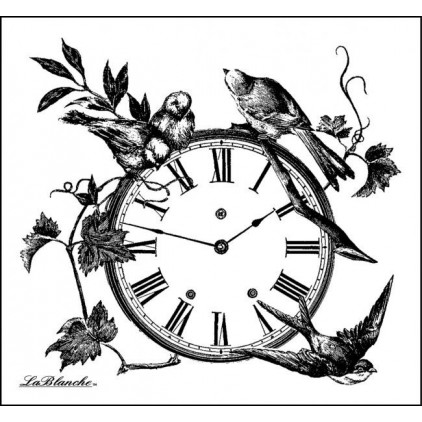 Silicon stamp - LaBlanche - Birds on a Clock
